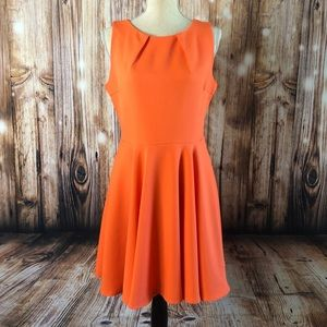 Charming Charlie Fit and Flare Tangerine Dress
